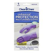Clean Ones Enhanced Protection Multi-Layered Gloves Medium