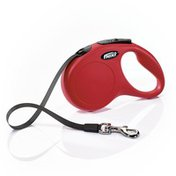 Flexi New Classic Original Retractable Casing With Tape Small Red Leash