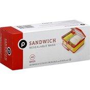 Publix Resealable Bags, Sandwich