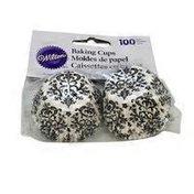 Wilton Black & White Damask Mini Baking Cups