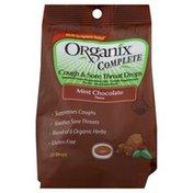 Organix Cough & Sore Throat Drops, Mint Chocolate Flavor