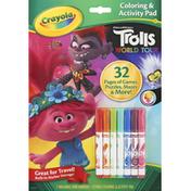 Crayola Coloring & Activity Pad, Trolls World Tour
