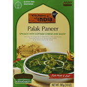 Kitchens of India Spinach with Cottage Cheese and Sauce, Palak Paneer