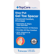 TopCare Gel Toe Spacer, Stay-Put