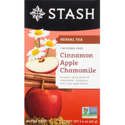 Stash Tea Herbal Tea, Cinnamon Apple Chamomile, Caffeine-Free, Bags