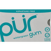 Pur Chewing Gum, Aspartame Free, Wintergreen