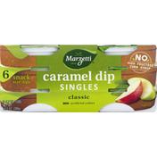 Marzetti Dip, Caramel, Singles, Classic, Snack Size, 6 Pack