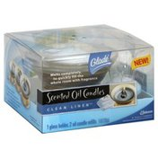 Glade Oil Candles, Scented, Clean Linen