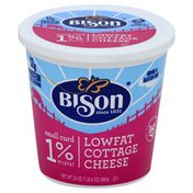 Bison Cottage Cheese, Small Curd, 1% Milkfat, Lowfat