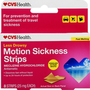 CVS Health Motion Sickness, Less Drowsy, Fast Melting, Strips