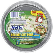 """Hefty EZ Foil 8 1/2"""" Dia X 1 1/2"""" Holiday W/Covers Gift Pans"""