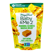 MegaFood Baby & Me 2™ Morning Sickness Nausea Relief* Soft Chews - Honey Lemon Ginger Flavor
