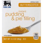 Food Lion Pudding & Pie Filling, Instant, Butterscotch, Box