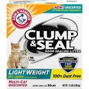 Arm & Hammer Clump & Seal LightWeight Odor Sealing Unscented Multi-Cat CaLitter