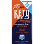Real Ketones Weight Loss + Charged, Keto, D-BHB Capsules