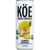 Koe Kombucha, Organic, Lemon Ginger