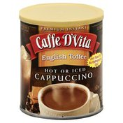 Caffe D'Vita Cappuccino, Instant, English Toffee, Can