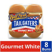 Ball Park Tailgaters Gourmet White XL Sandwich Buns