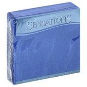 Sensations Napkins, Beverage, True Blue, 2-Ply