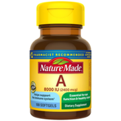 Nature Made Vitamin A 2400 mcg (8000 IU) Softgels