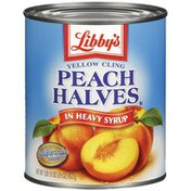 Libby's Yellow Cling In Heavy Syrup Peach Halves