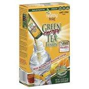 Healthy To Go Green Tea Fusion, Energy, Honey-Lemon Flavor