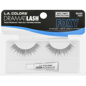 L.A. Colors False Eyelash Kit, Dramatilash, Foxy