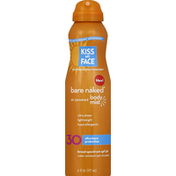 Kiss My Face Sunscreen, Continuous Spray, Air Powered Body Mist, Broad Spectrum SPF 30