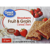 Great Value Cereal Bars, Fruit & Grain, Strawberry