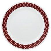 Corelle Plate, Dinner, Crimson Trellis, 10-1/2 Inch, Bulk Pack