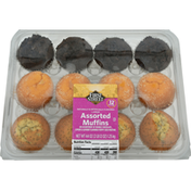 First Street Muffins, Assorted, Large