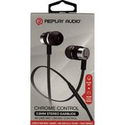 Replay Audio Stereo Earbuds, Chrome Control