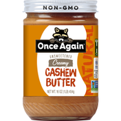 Once Again Cashew Butter, Creamy, Unsweetened, Natural