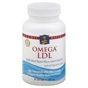 Nordic Naturals Omega LDL, with Red Yeast Rice and CoQ10, 1000 mg, Soft Gels