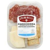 Creminelli Finocchiona, Uncured Italian Salami, Provolone & Crackers