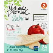 Nature's Promise Rice Rusks, Organic, Apple, 6 + Months