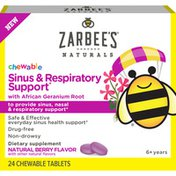 Zarbee's Naturals Children's Chewable Sinus & Respiratory Support, Geranium & Bioflavonoids