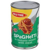 Valu Time Spaghetti In Tomato Sauce With Meat