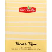 Our Family Facial Tissue, 2-Ply
