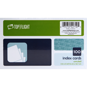 Top Flight Index Cards, Unruled, 3 Inch x 5 Inch