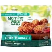 Morning Star Farms Veggie Chik'n Nuggets, Original, Vegan, Excellent Source of Protein