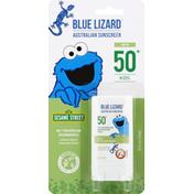 Blue Lizard Sunscreen Stick, Australian, Mineral, Kids, Sesame Street, Broad Spectrum SPF 50+