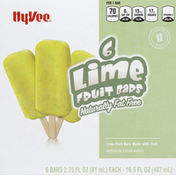 Hy-Vee Fruit Bars, Fat Free, Lime