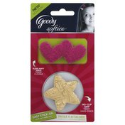 Goody No-Clip Grip, Pink Heart, Gold Star