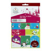 Smart Living Holiday Gift Tags Peel 'N Stick - 104 CT