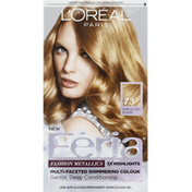 Feria Permanent Haircolour Gel, Dark Golden Blonde 73, Fashion Mettalics