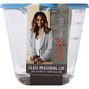 Cravings by Chrissy Teigen Measuring Cup, with Silicone Lid,  Glass, 4 Cup