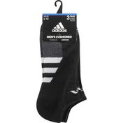 adidas Men's Cushioned II No Show Socks – 3 Pack - L - Black