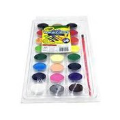 Crayola Washable Watercolor Paints With Plastic Handled Brush