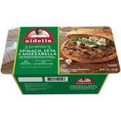 Aidells Charbroiled Chicken Burgers, Spinach & Feta, 12 oz. (4 Fully Cooked Pat